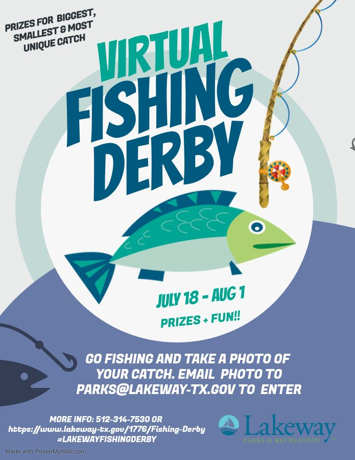 Fishing Derby Flyer for fishing contest 2020